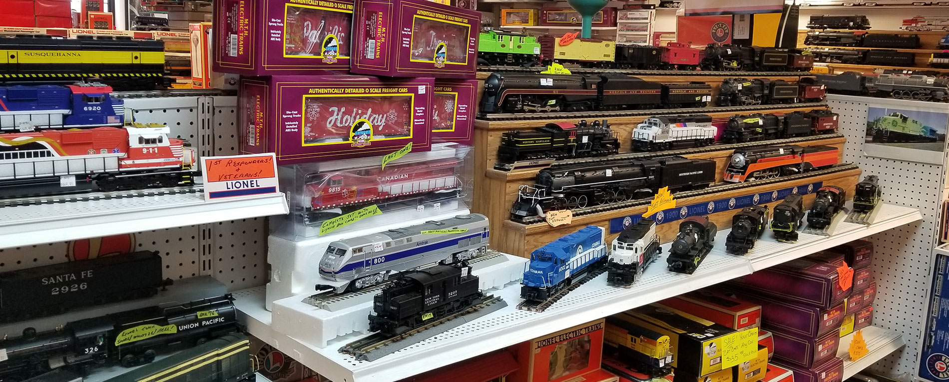 shelf of trains